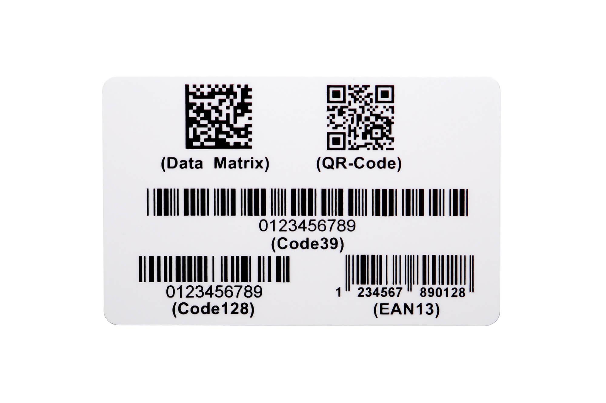 Plastikkarten mit Barcode und QR-Codes