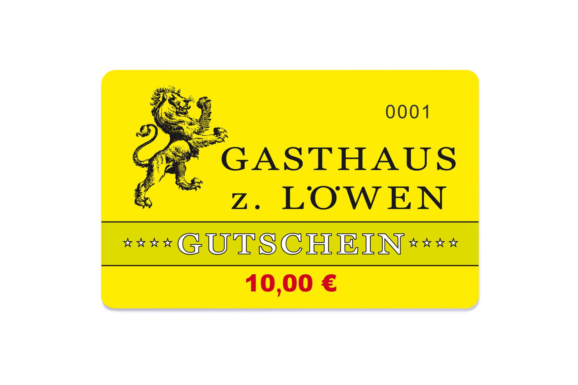 10€ Restaurant-Gutschein Gasthaus zum Löwen
