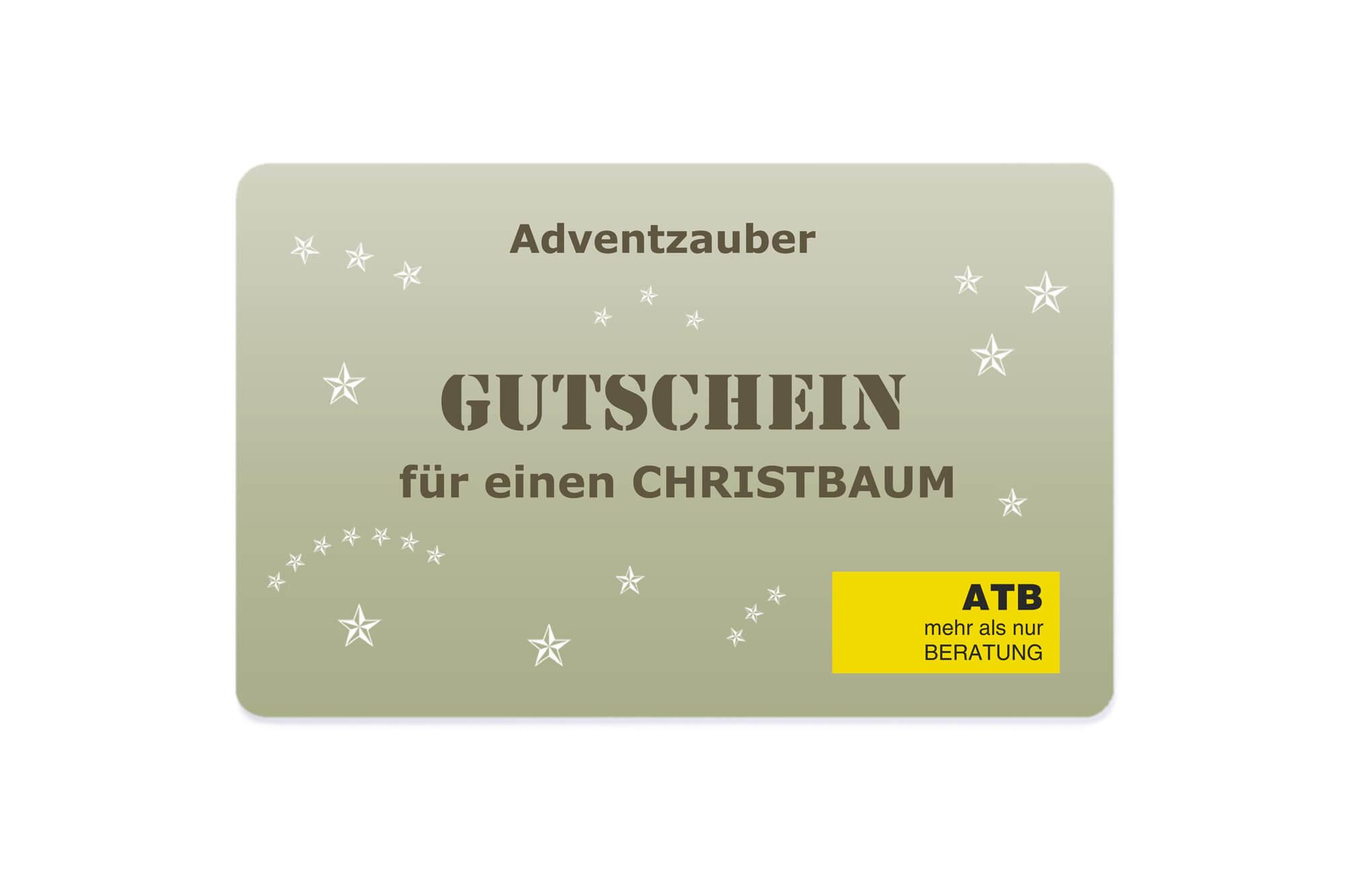 Gutscheinkarte Christbaum