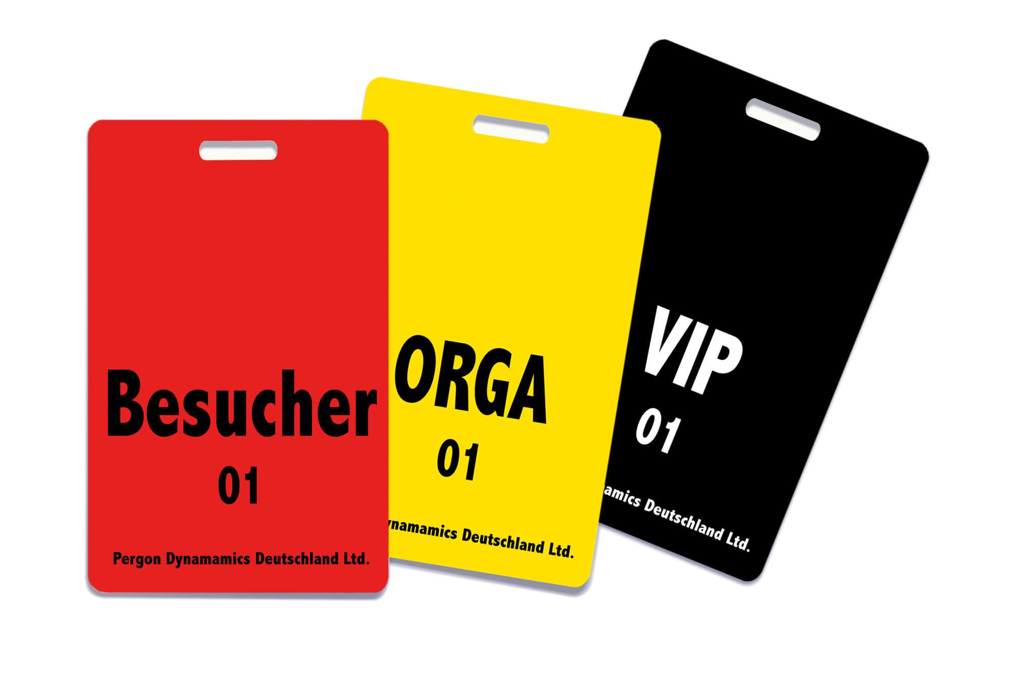 Zugangskontrollkarten mit Farbkodierung