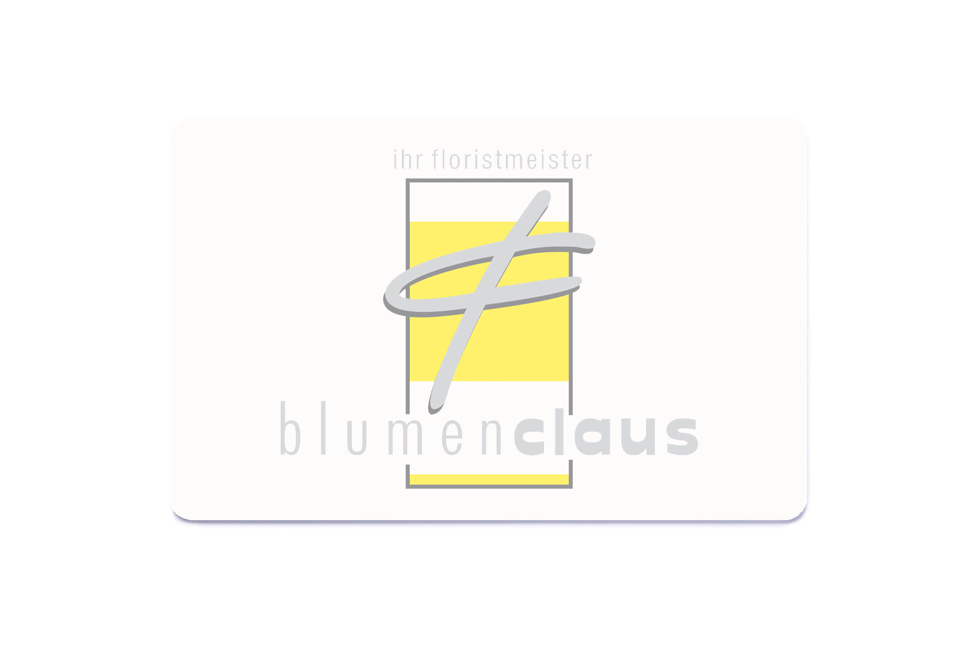 Kundenbindungskarten Blumen Claus