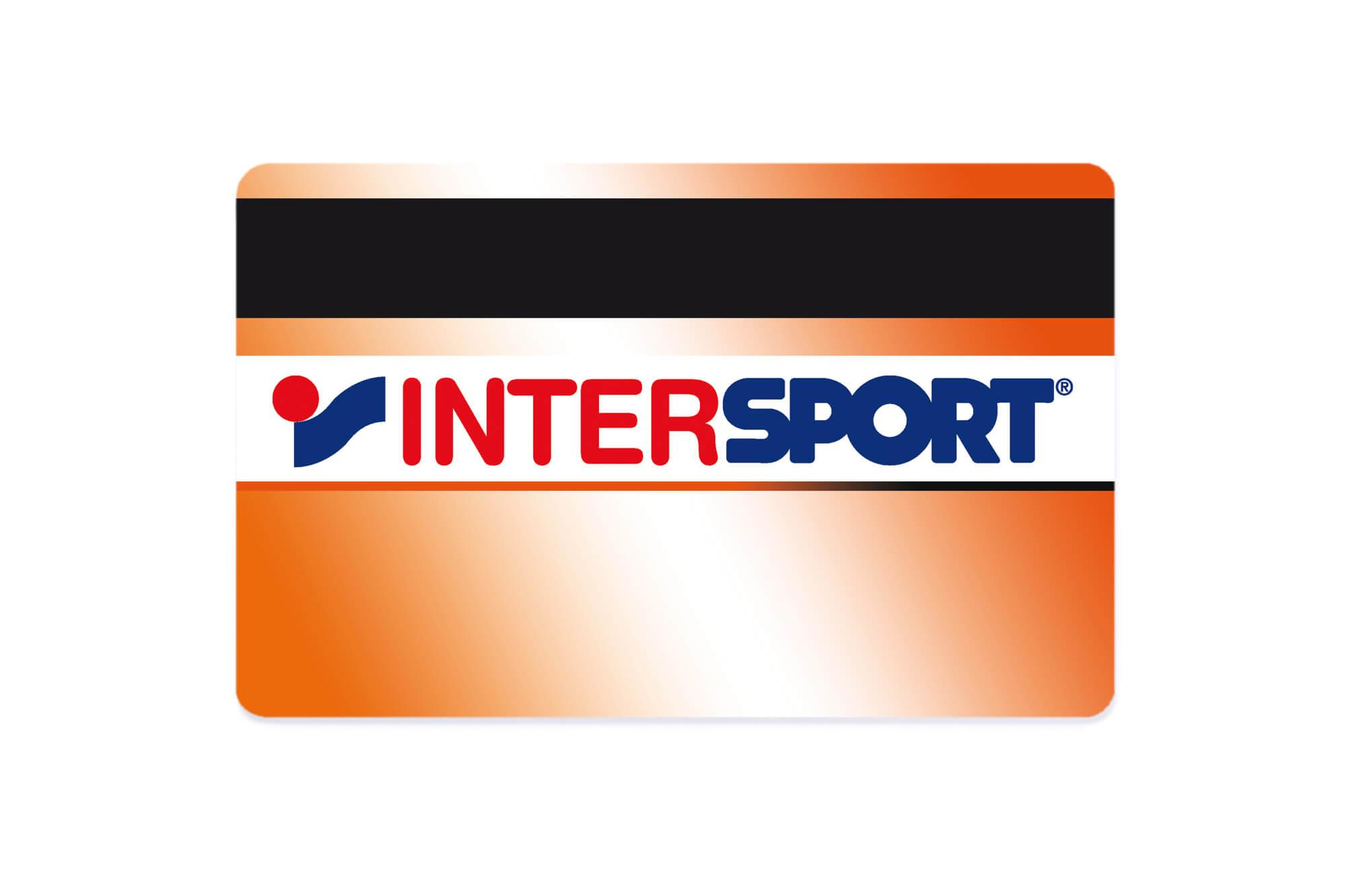 Kundenkarte Intersport mit Magnetstreifen