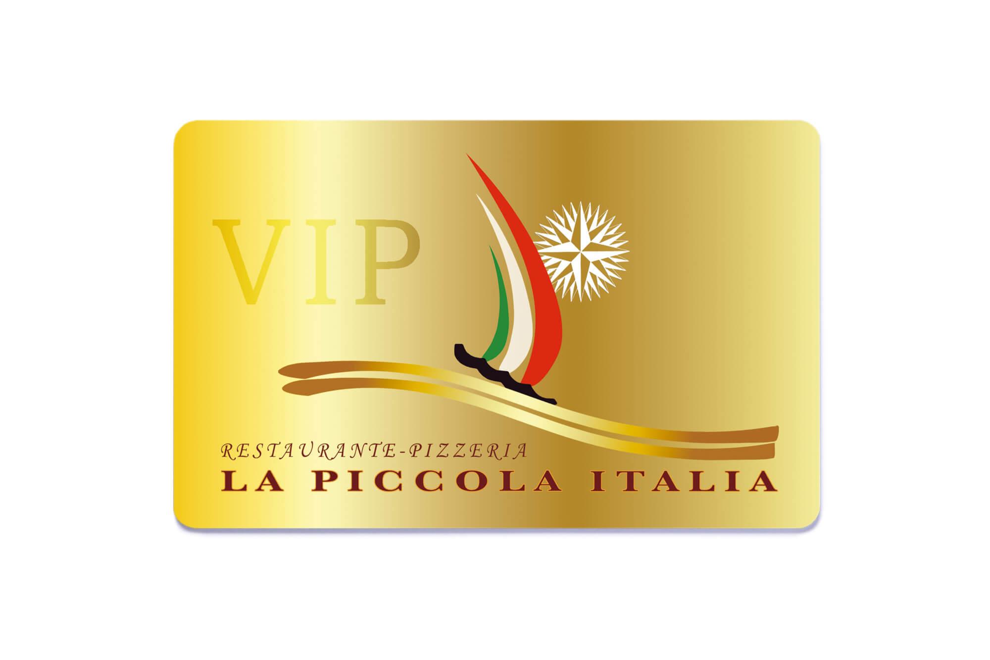 Karten mit Metallic-Druck Restaurant VIP-Karte