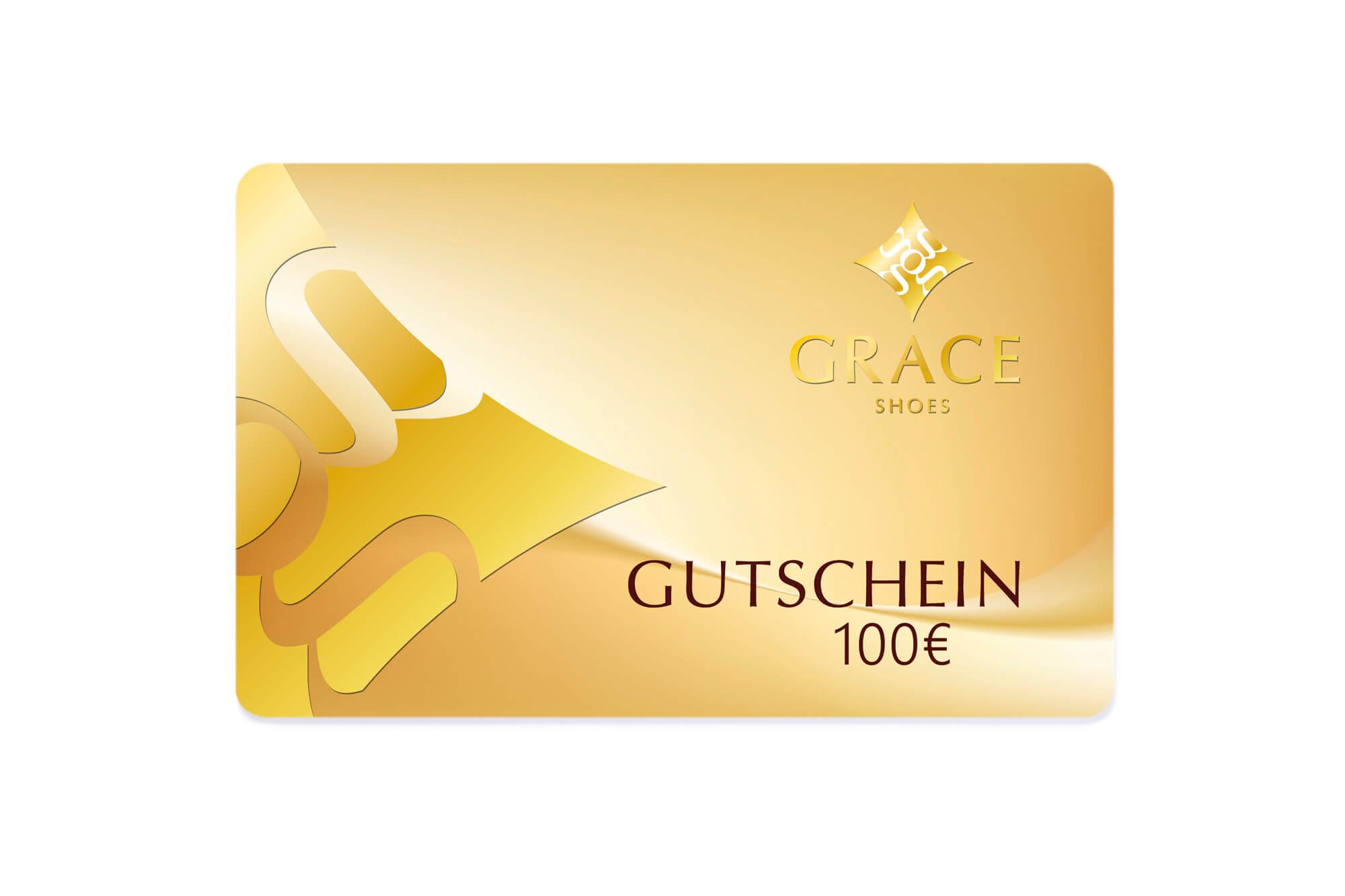 Gutscheinkarte in Gold-Metallic