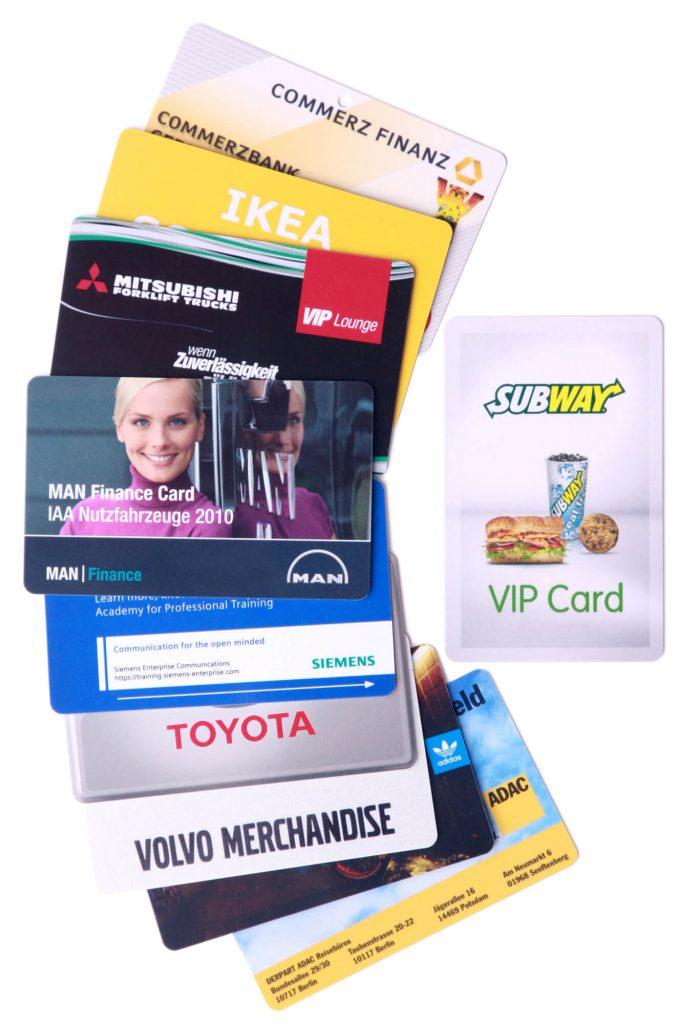 pvc-plastikkarten Fächer von für Kunden produzierten Karten