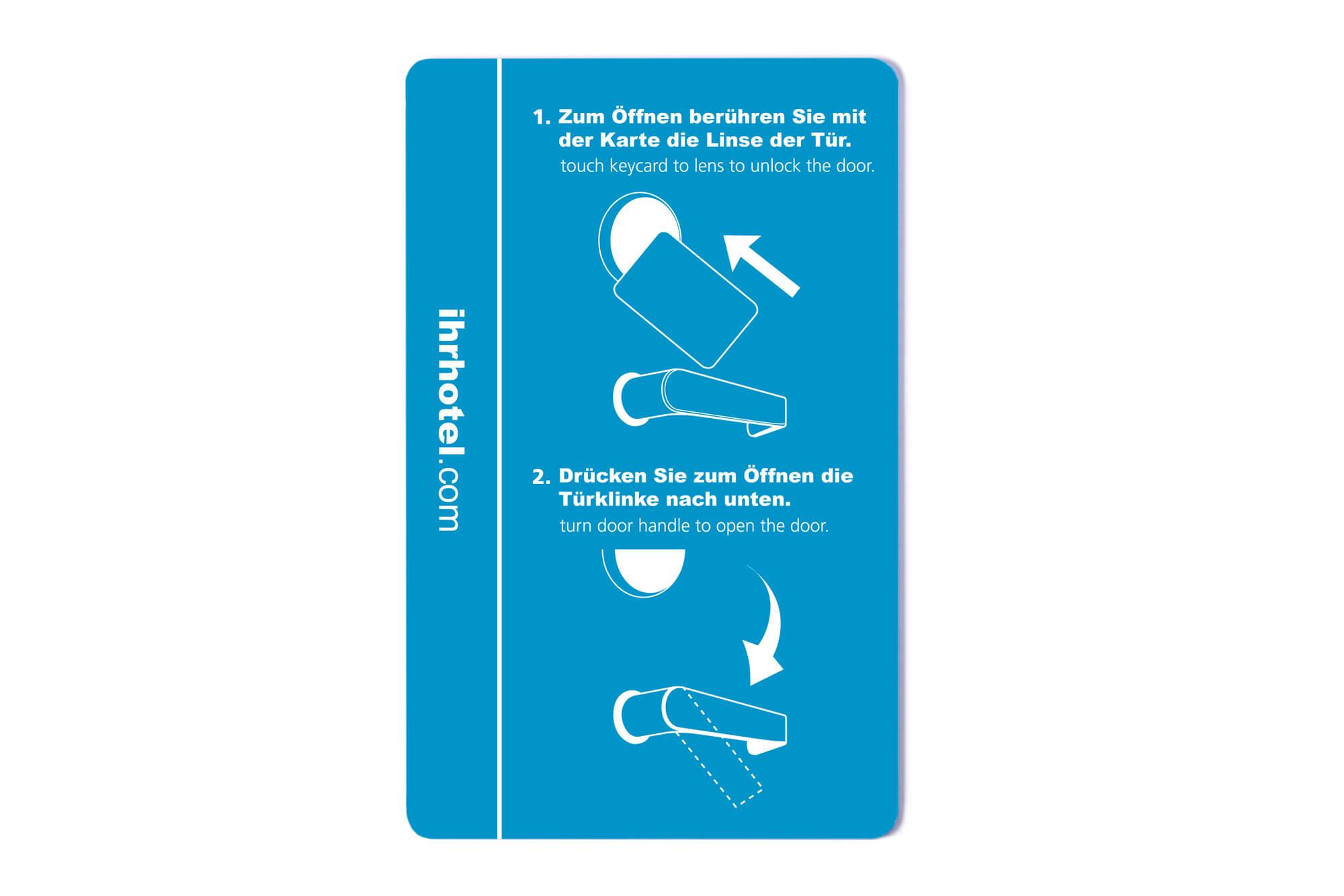 RFID-Karten Hotelkarte Rückseite