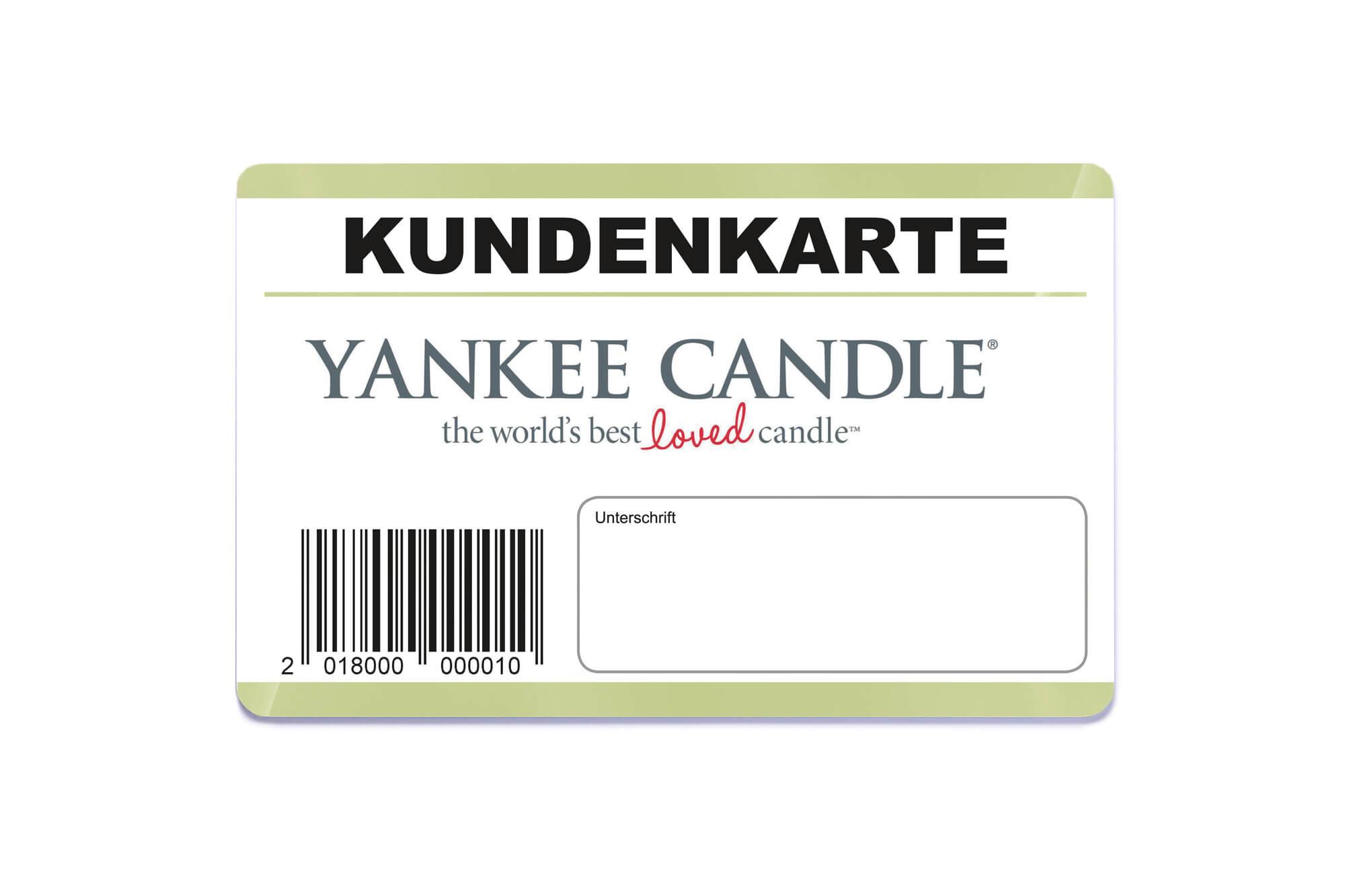 Schreibfelder Beispiel Kundenkarte Yankee