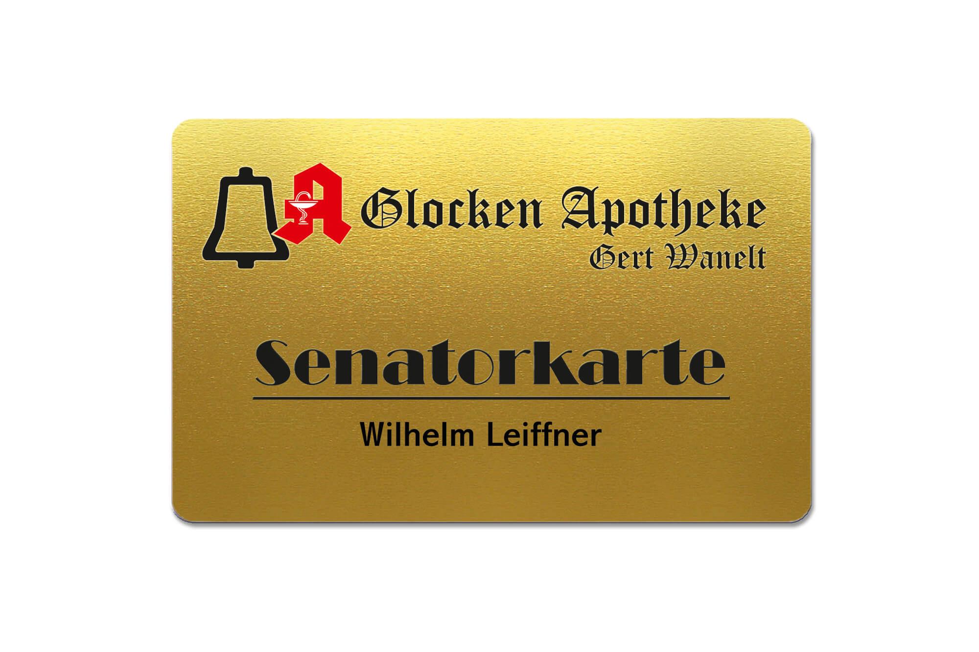 Senatorenkarte der Glocken Apotheke