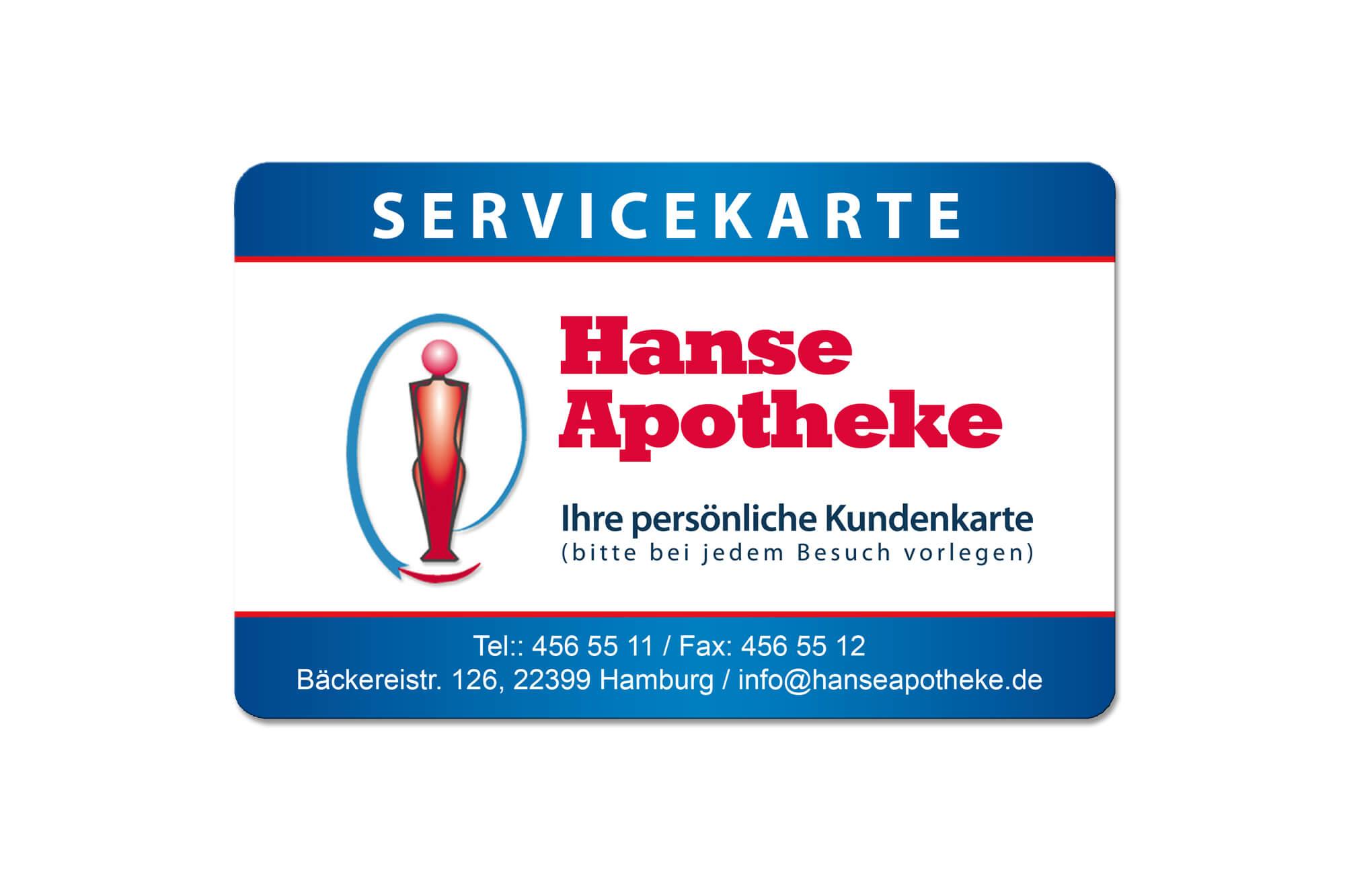 Beispiel für Apothekenkarten Hanseapotheke