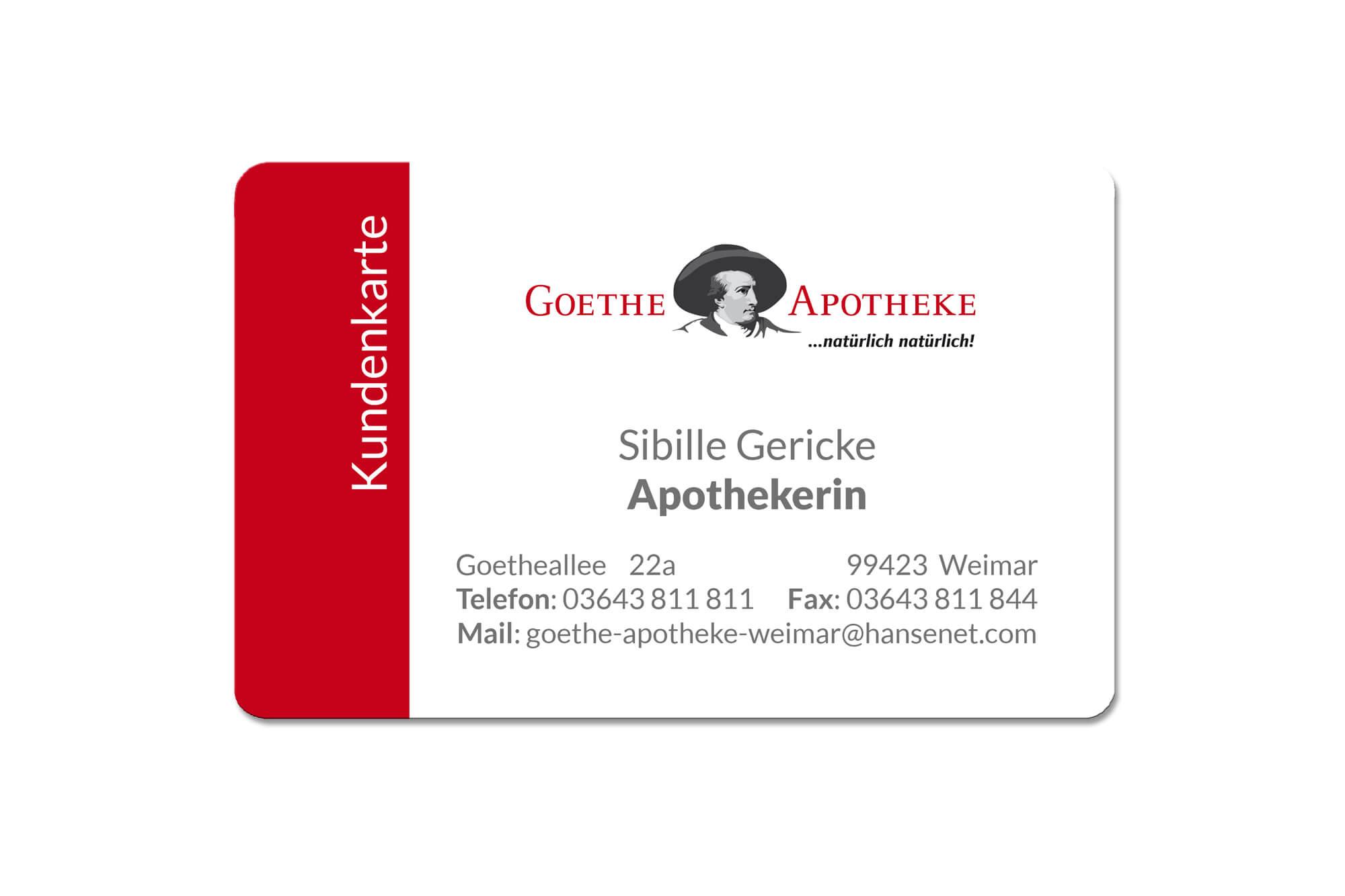 Kundenkarte Goethe-Apotheke