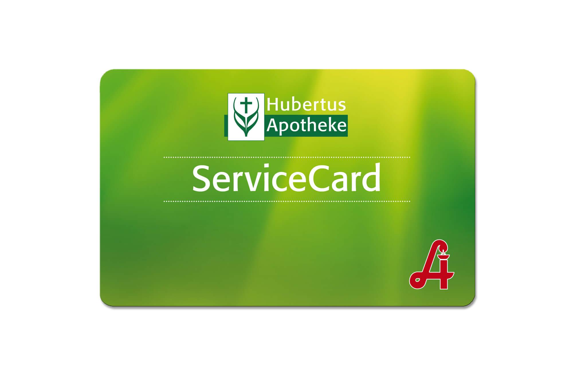 Apothekenkarte Service-Card Hubertus Apotheke