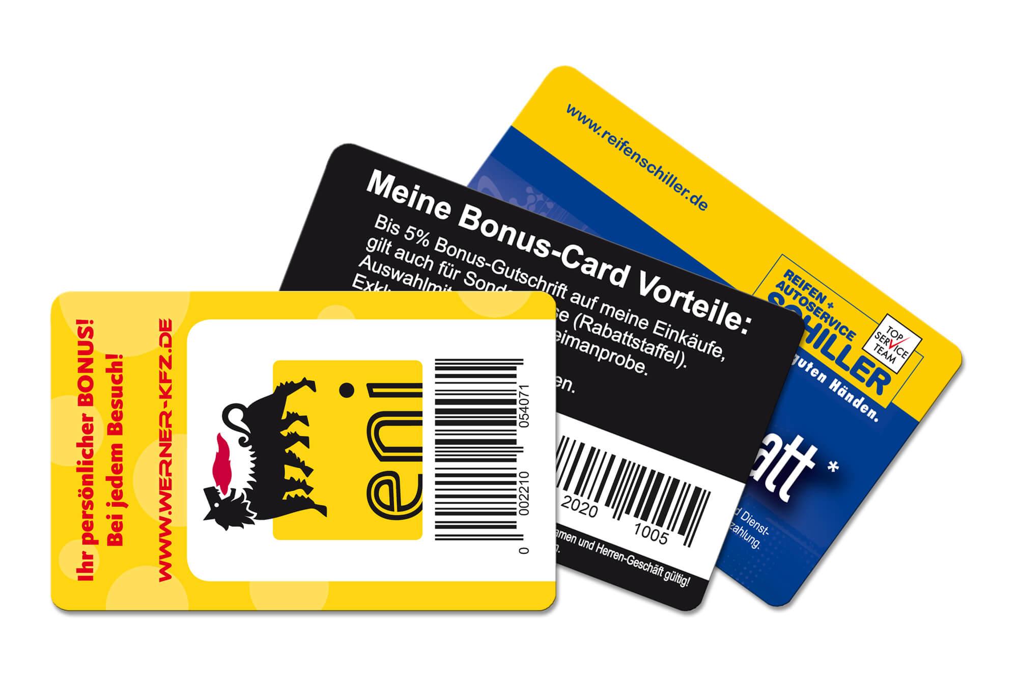 Bonuskarten Fächer