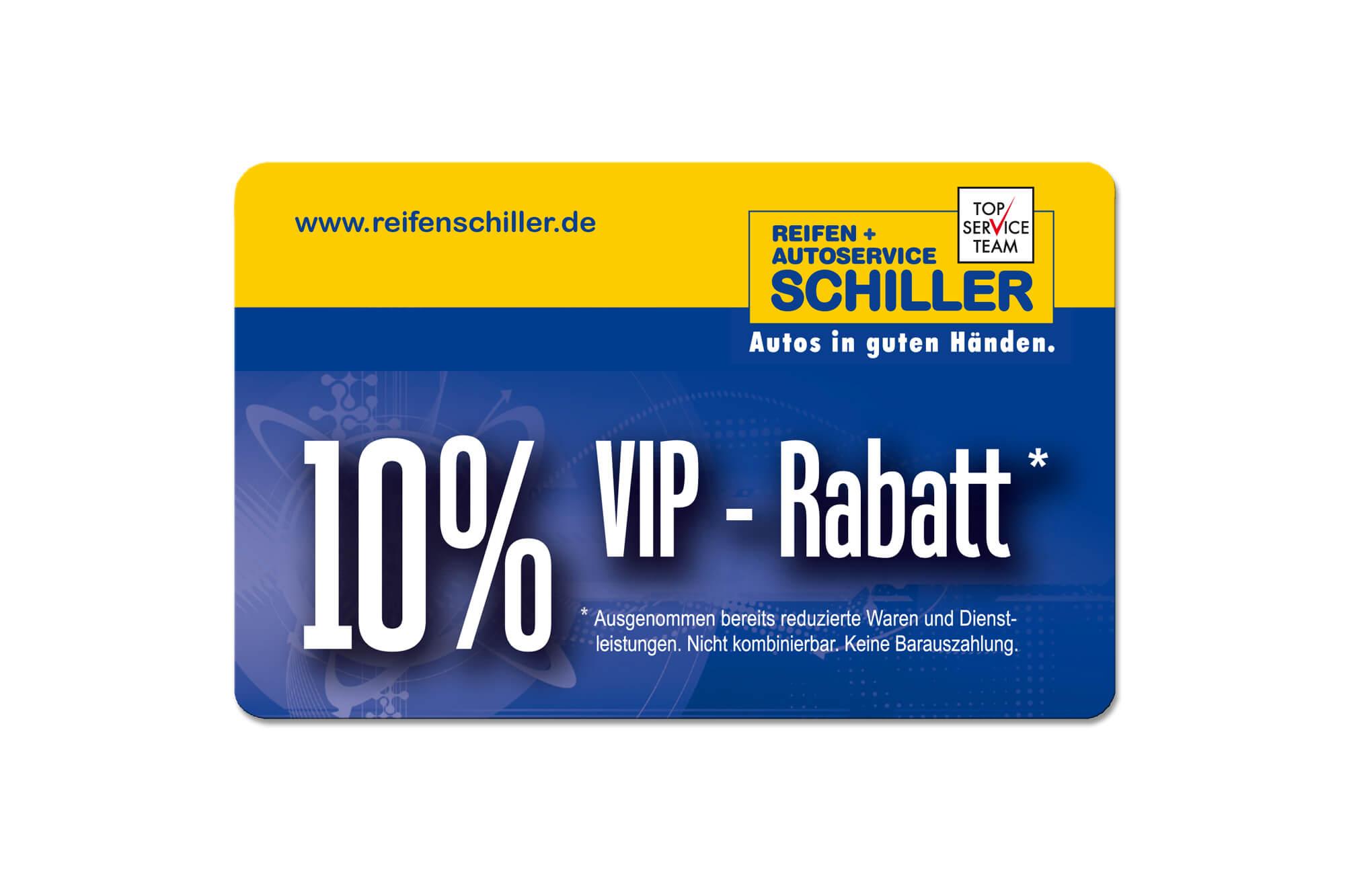 Bonuskarte 10% Rabatt Reifen Schiller