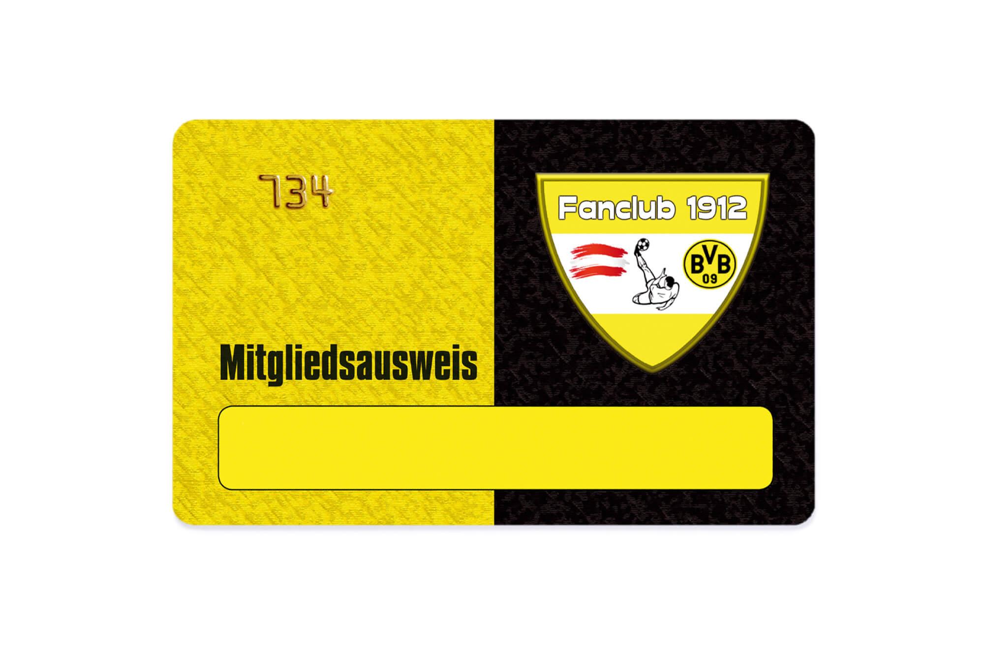 Fanclub-Card Mitgliedsausweis
