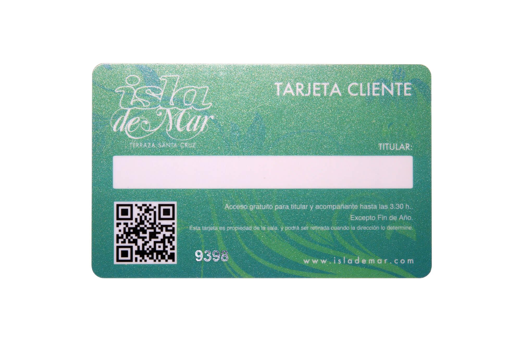 Clubkarte Metallic-Grün