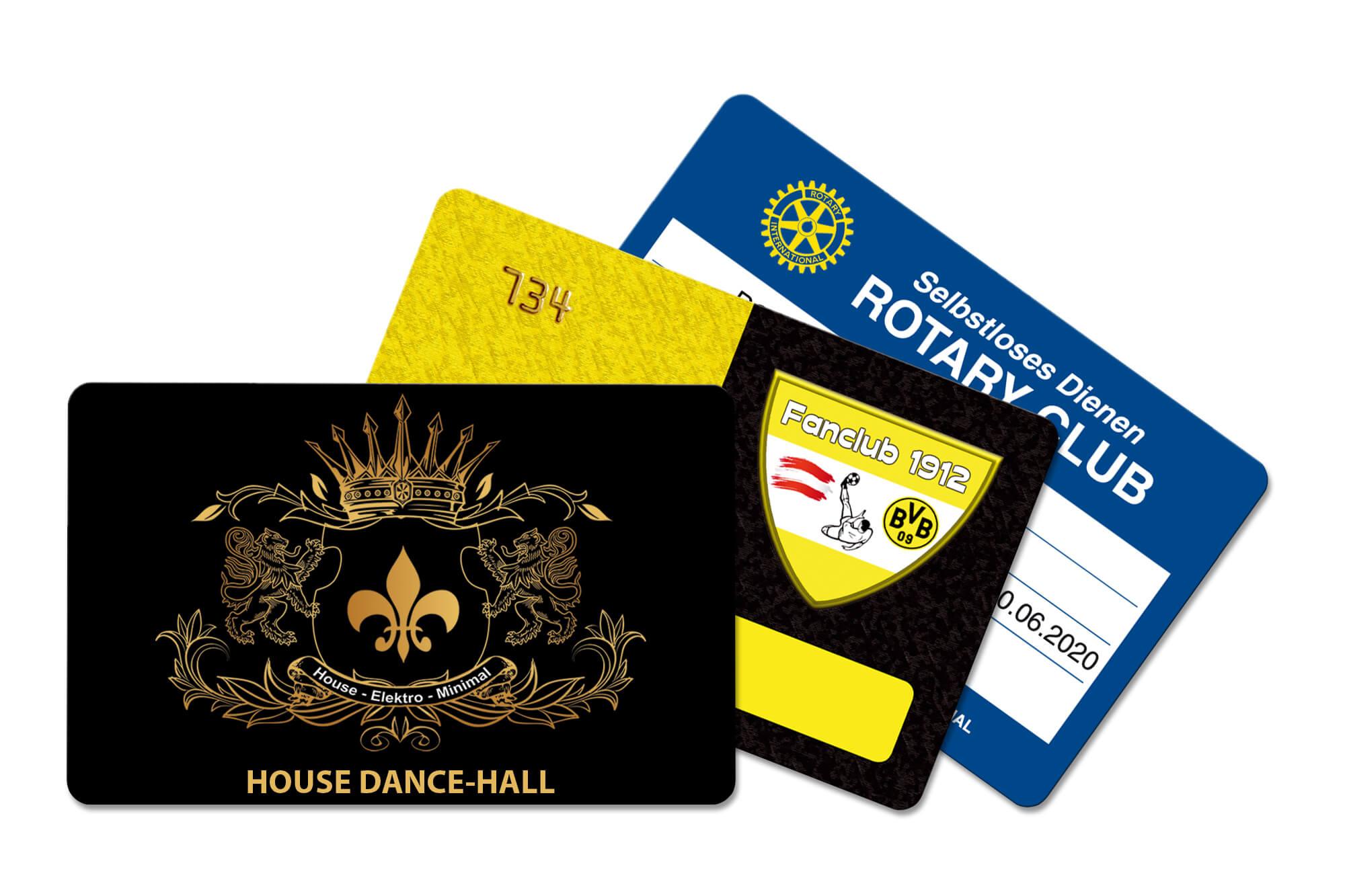 Clubkarten Fächer