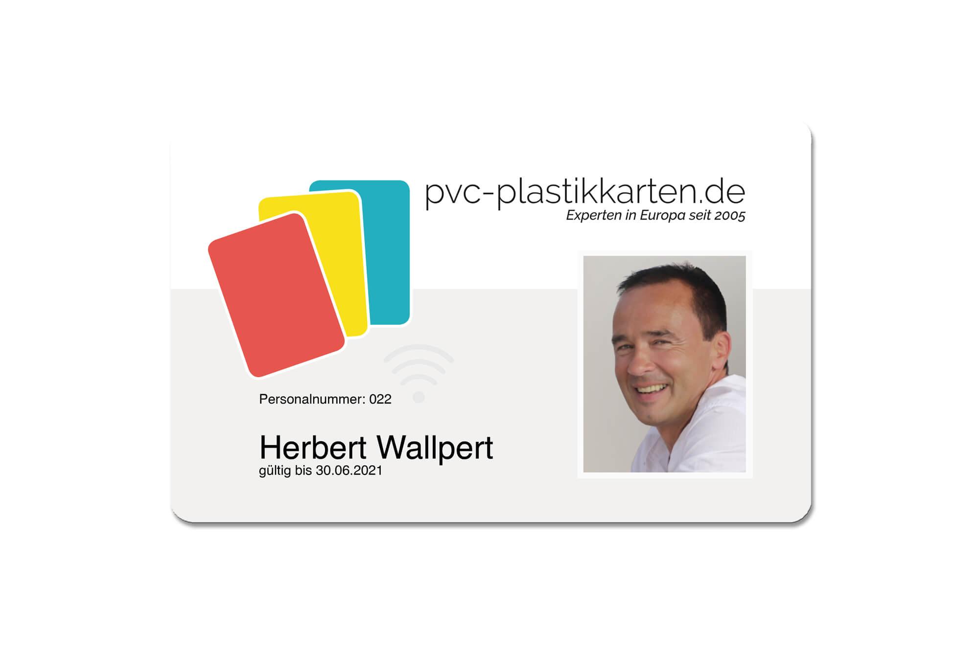 PVC-Plastikkarten Mitarbeiterausweis