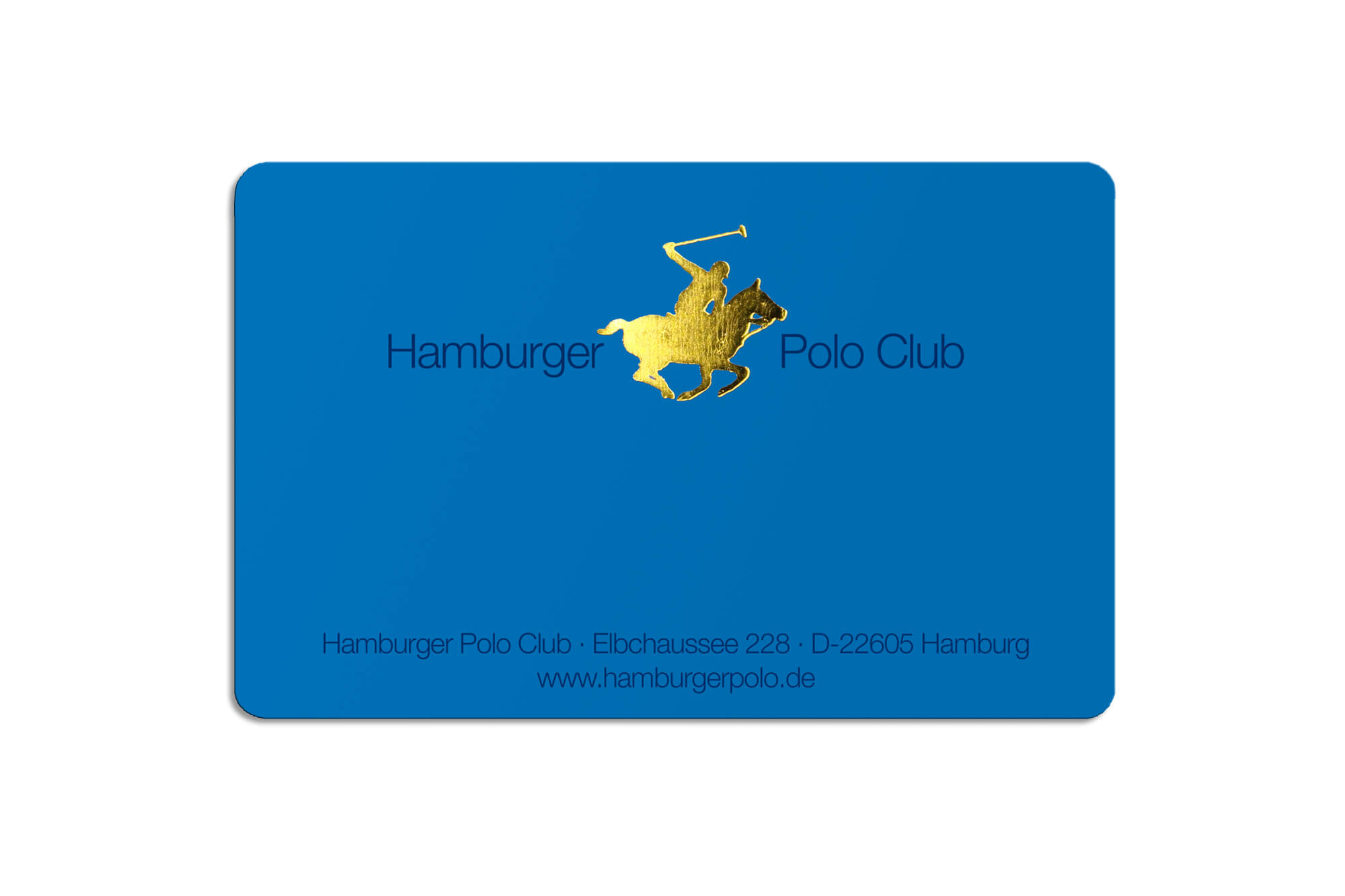 Clubcard Poloclub mit Hotstamping