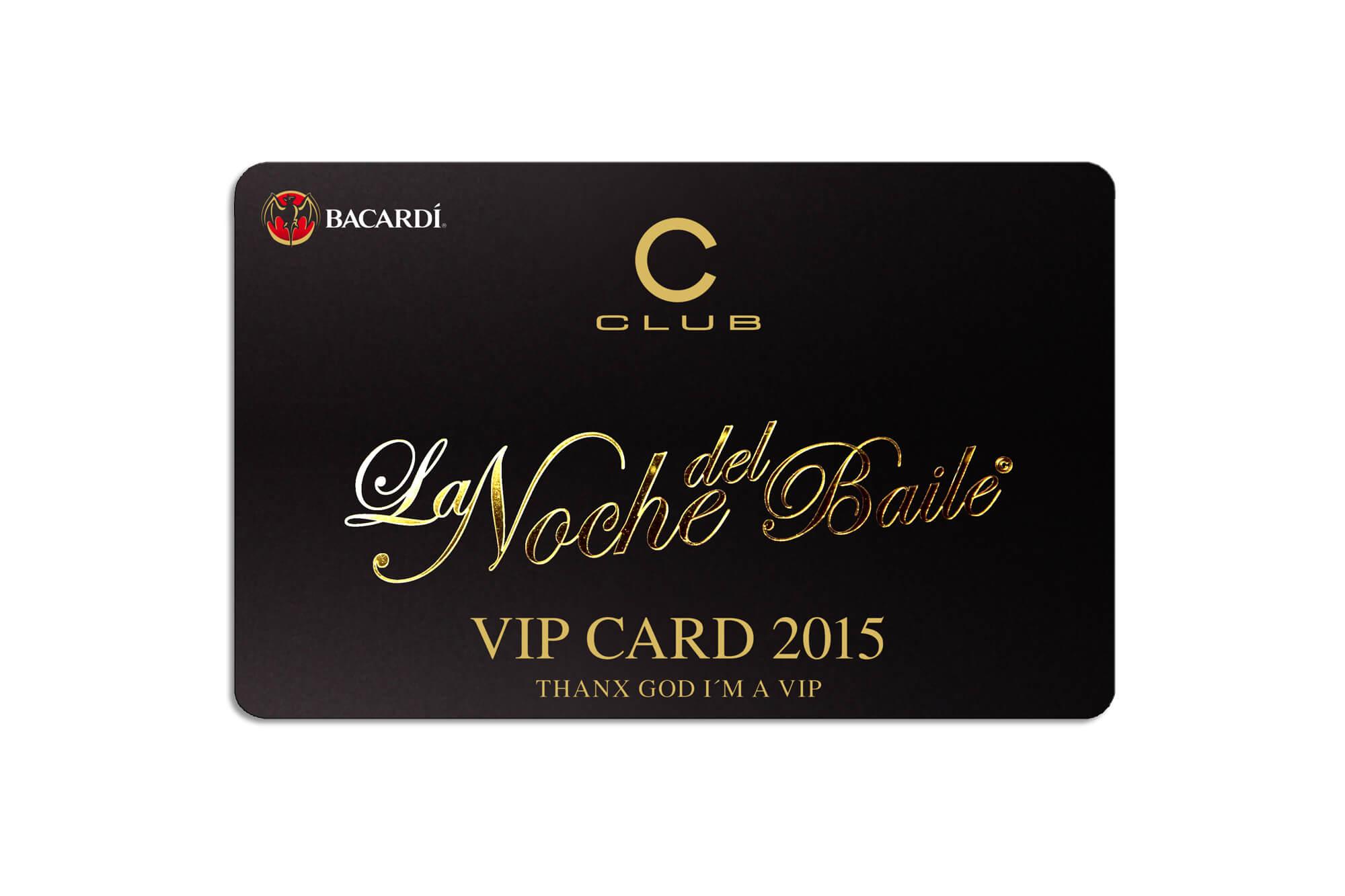 Clubkarte matt mit Hotstamping Gold